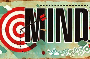 Mind Concept. Poster in Flat Design.